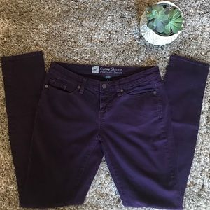 Mossimo Curvy Skinny Premium Denim Deep Purple